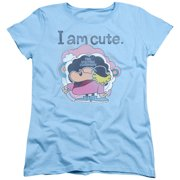 Electric Company I Am Cute Womens Short Sleeve Shirt