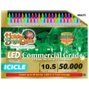 HOLIDAY BRIGHT LIGHTS Christmas LED Light Set, T5, Commercial-Grade, Multi, 70-Ct. LEDBX-T570-IC-MU