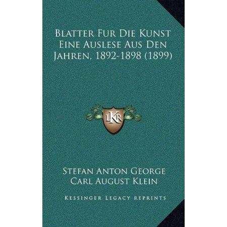 Blatter Fur Die Kunst Eine Auslese Aus Den Jahren, 1892-1898 (1899) - image 1 de 1