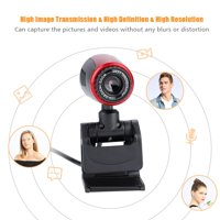 Tebru USB2.0 with MIC 16MP HD Webcam Web Camera Cam 360° for Computer PC Laptop for Skype / MSN, 360° Camera, Laptop Camera