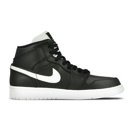 Nike 554724-038 : Men's Air Jordan 1 Mid Basketball Shoe Black (11.5 D(M)  US) - Walmart.com