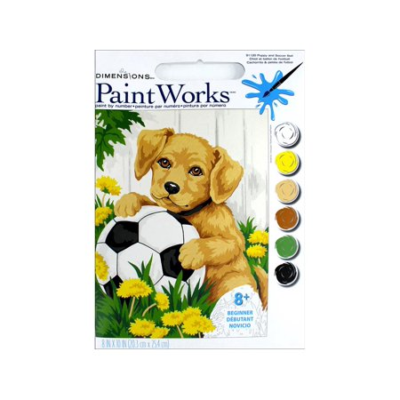 Paintworks Paint By Number 8x10 Puppy Ball
