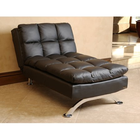 Devon & Claire Mantua Black Leather Euro Lounger Chaise