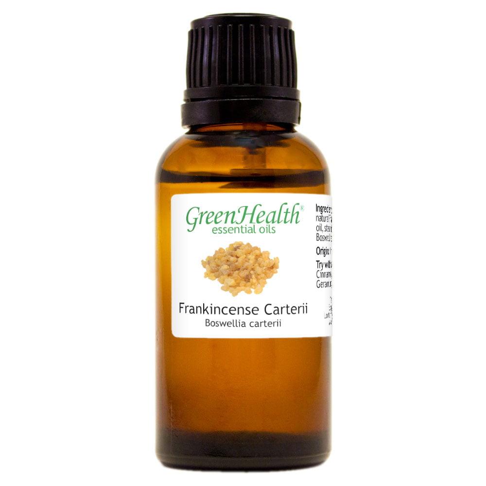 Frankincense Carterii Essential Oil - 1 fl oz (30 ml) Glass Bottle w/ Euro Dropper - 100% Pure Essential Oil by GreenHealth
