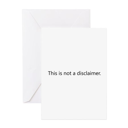 CafePress - Disclaimer Disclaimer - Greeting Card, Blank Inside Glossy