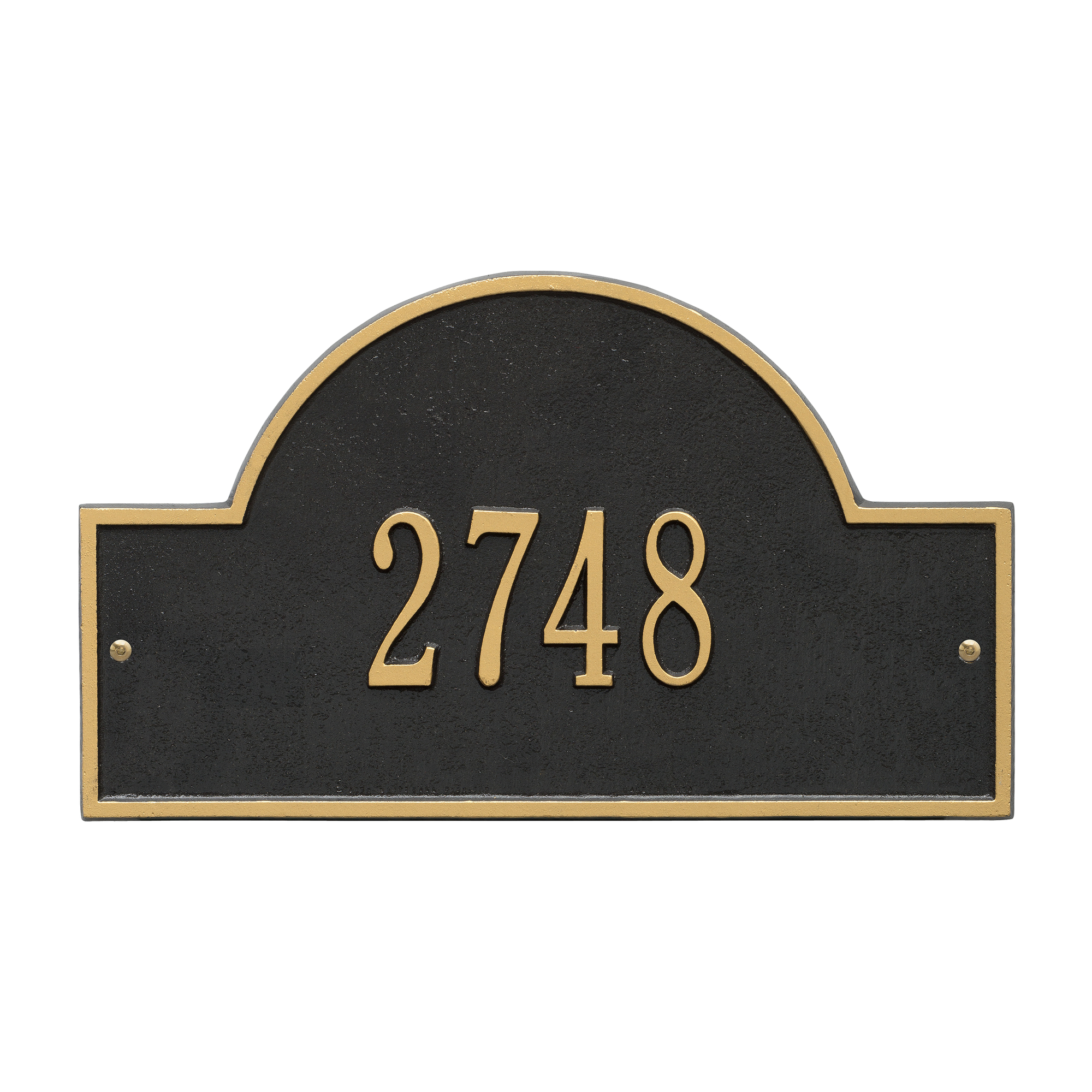Personalized Whitehall Products Standard Wall One Line Arch Marker Address Plaque in Black... by Whitehall