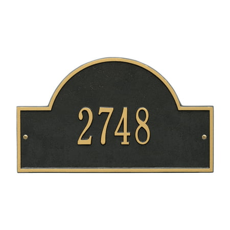 Yard Line Markers (Personalized Whitehall Products Standard Wall One Line Arch Marker Address Plaque in)