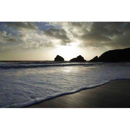 Sunset On Ballydowane Beach  The Copper Coast Geopark Bunmahon  County Waterford Ireland Canvas Art   George Munday  Design Pics  19 X 12