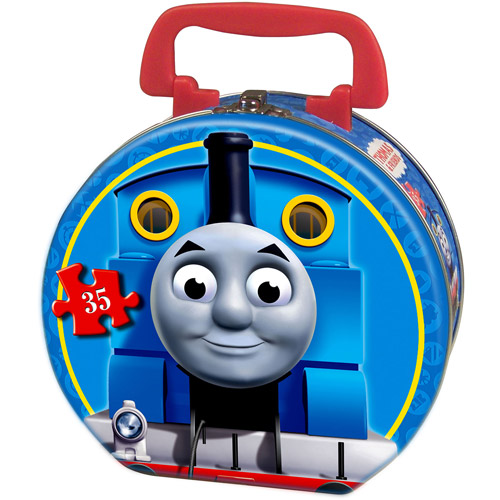Ravensburger Thomas and Friends: Snowy Day Puzzle in a Round Tin, 35 Pieces
