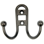 Mainstays, Double Hook Bronze Hook, 3 Pack, Mounting Hardware Included, 10 lb Working Limit