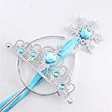 Princess Crown Socks - Princess Dress Up Accessories Tiara Crown and Snowflake Wand Set Children Cosplay Accessories