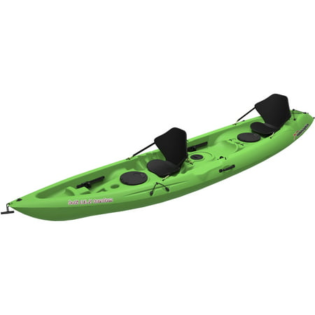 Sun Dolphin Bali 13.5 Recreational Sit On Tandem Kayak, Lime ()
