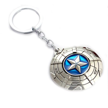 - Superheroes Marvel Comics Captain America Civil War Shield Logo Keychain for Autos, Home or Boat with Gift Box