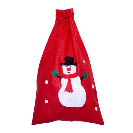 Pack of 1 Large Santa Sack, 40*60cm Christmas Santa Gift Present Sack by Alytimes(Random Pattern)](Burlap Santa Sack)