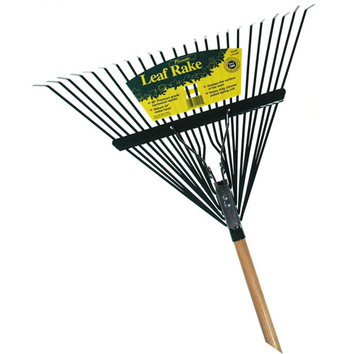 Flexrake CF24W 48 in Handle 24 in Metal Head Leaf Rake