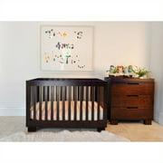 Babyletto Modo 3-in-1 Convertible Wood Crib Set in Espresso