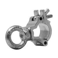 ALUMINUM SMALL MINI CLAMP WITH EYE BOLT IN POLISHED ALUMINUM
