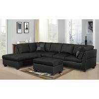 big sale edb99 2b41a Black Sectional Sofas - Walmart.com