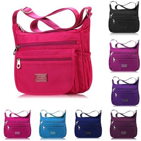 Nylon Hobo Handbag (Women Nylon Waterproof Crossbody Messenger Bag Lady Shoulder Bag Handbag)