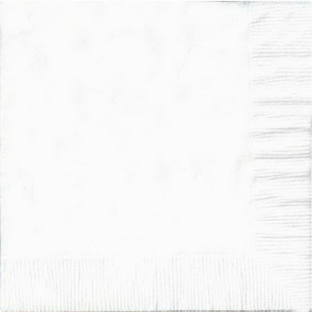 50 Plain Solid Colors Luncheon Dinner Napkins Paper - White