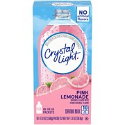 (60 Packets) Crystal Light On-the-Go Pink Lemonade Drink Mix, 0.13 oz