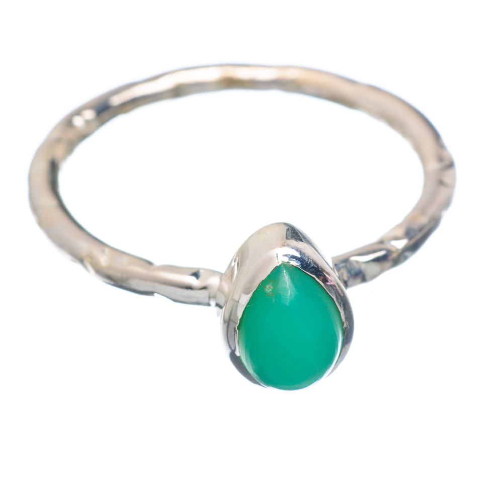 Ana Silver Co Chrysoprase Ring Size 7.25 (925 Sterling Silver) Handmade Jewelry RING856592 by Ana Silver Co.
