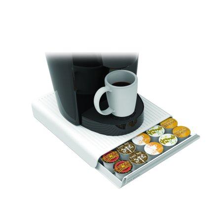Mind Reader 30 Capacity K Cup Single Serve Coffee Pod Storage Organizer Drawer  White