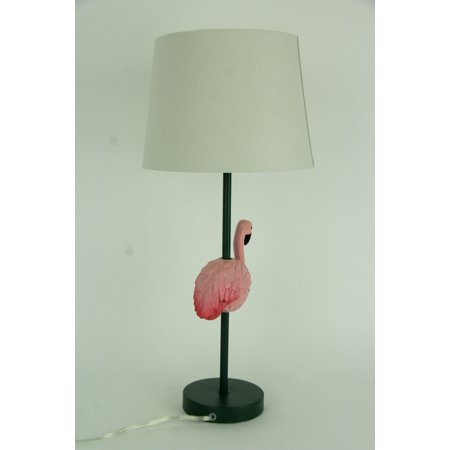 Tropical Pink Flamingo Table Lamp with White Linen Look Shade - image 3 of 4