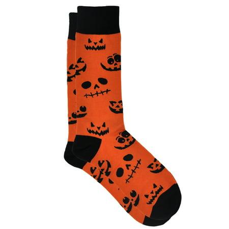 Jack Stickman Halloween 6 (360 Threads Jack o' Lantern Halloween Pumpkin Socks All-Over Size 10-13)