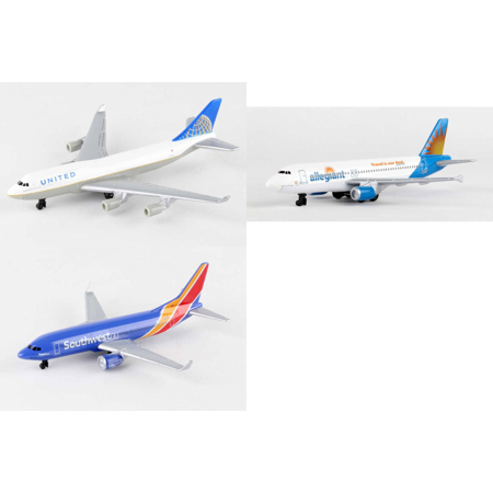 United  Allegiant  Southwest Airlines Diecast Airplane Package   Three 5 5   Diecast Model Planes
