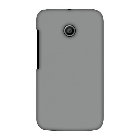 new style 06944 7efdb Motorola Moto E XT1022 Case - Neutral Grey, Hard Plastic Back Cover. Slim  Profile Cute Printed Designer Snap on Case with Screen Cleaning Kit
