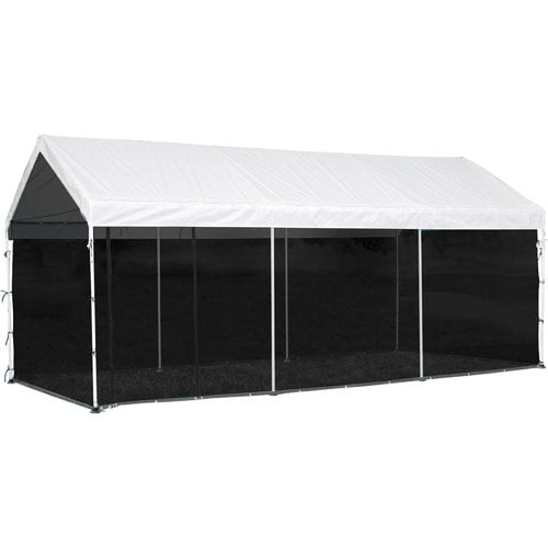 "Max AP 10' x 20' Screen House Enclosure Kit Woven Screen Black Fits 1-3 8"" and 2"" Frame by ShelterLogic Corp."