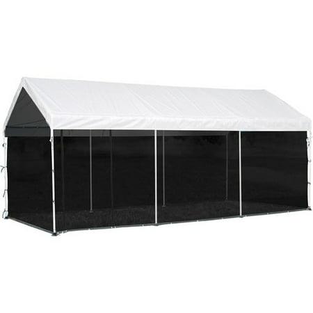 Max AP 10' x 20' Screen House Enclosure Kit Woven Screen Black Fits 1-3/8