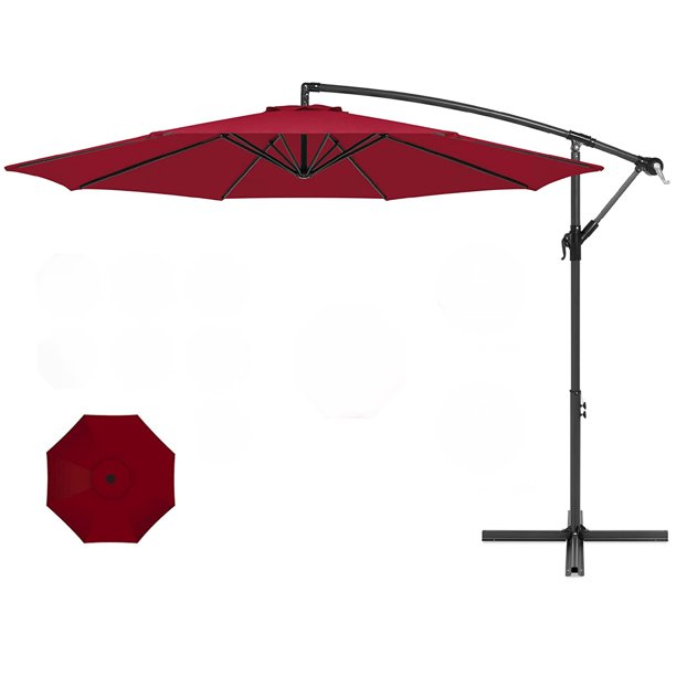 10 Ft Offset Cantilever Patio Umbrella, 10 Ft Cantilever Patio Umbrella