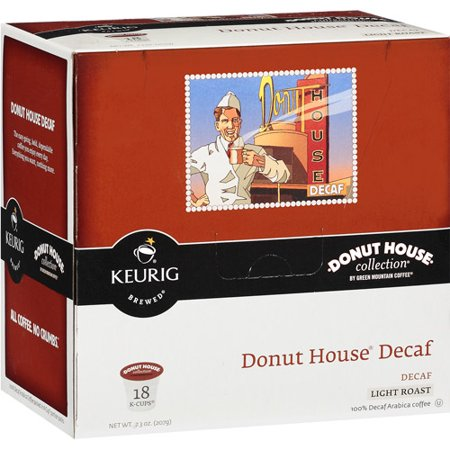 Keurig K-Cups, Donut House Collection Decaf Coffee, 18 ct