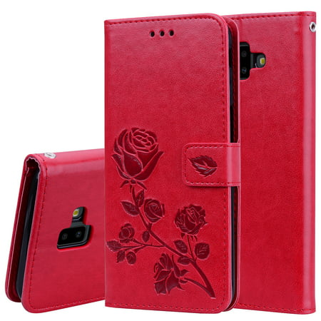 buy popular 0632a fbbe2 Galaxy J6 Plus Case, Samsung Galaxy J6 Prime 2018 6.0 Inch Case, Allytech  [Embossed Rose Series] Folding Folio Flip Case with Kickstand Card Holders  ...