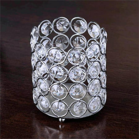 BalsaCircle 4-Inch tall Tealight Votive Crystal Candle Holder - Wedding Party Table Home Dining Decorations - Country Themed Table Centerpieces