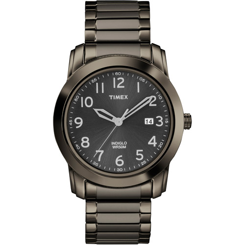 Timex Men's Highland Street Watch, Gray Stainless Steel Expansion Band