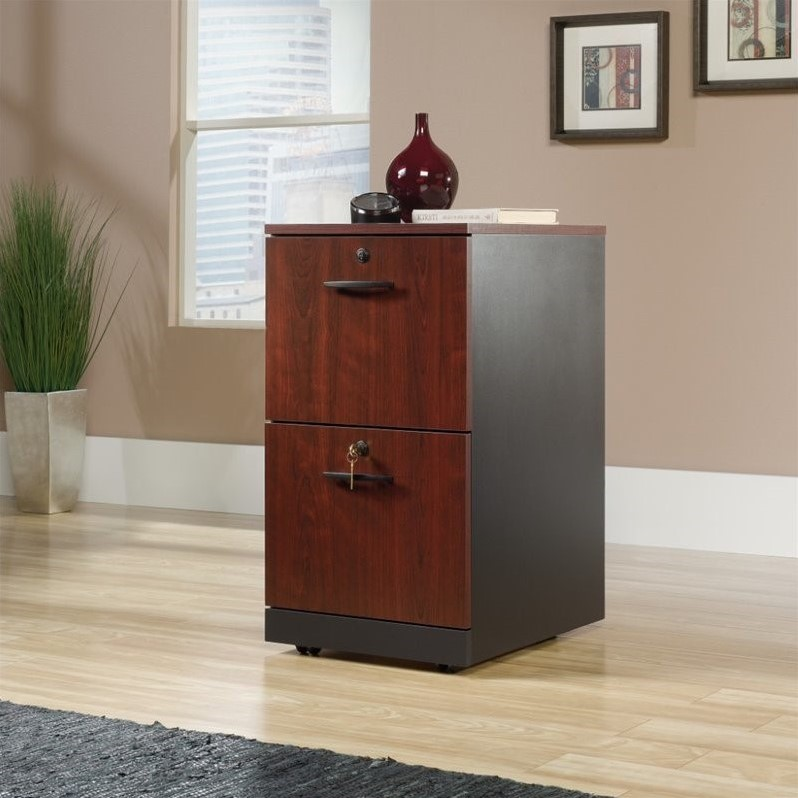 Sauder Via 2 Drawer File Cabinet in Classic Cherry