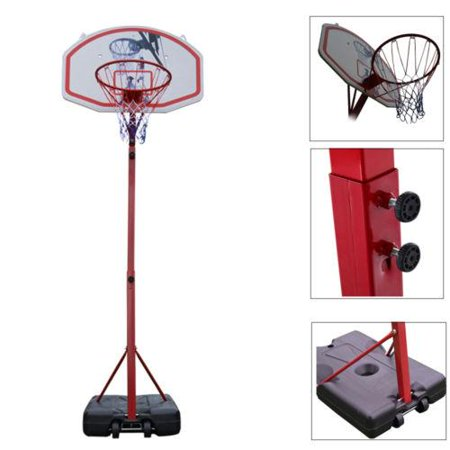 Ktaxon 6.9 ft - 8.5 ft Hight Adjustable Basketball Goal,  Indoor / Outdoor Portable Basketball Hoop Stand System with Wheels, Net, Backboard, for Kids Youth Training