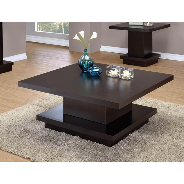 Coaster 705168 Co Coffee Table Cappuccino Walmart Com Walmart Com