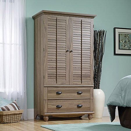Sauder Harbor View Armoire, Salt Oak Bedroom Mdf Armoire