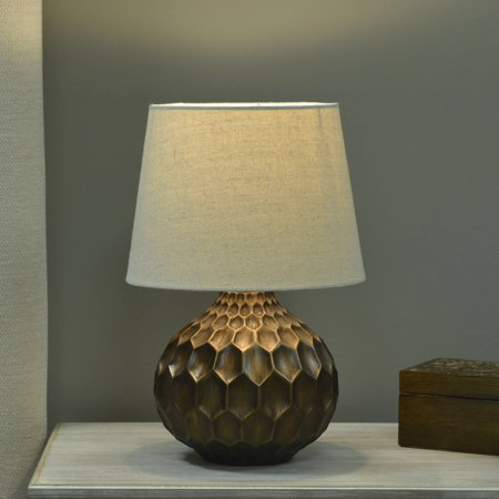 Better Homes And Gardens Faceted Table Lamp With Linen