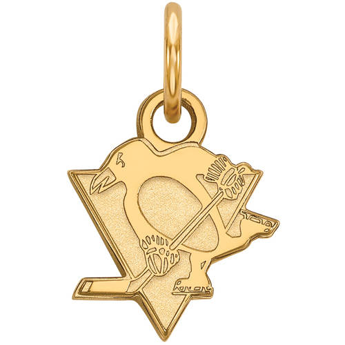LogoArt NHL Pittsburgh Penguins 14kt Gold-Plated Sterling Silver Extra Small Pendant
