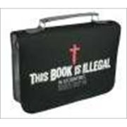 Christian Art Gifts 367063 Bible Cover Witness Gear Book Is Illegal Large Black