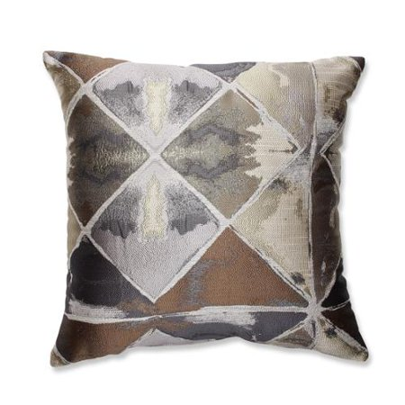 165quot disegno ikat gray and brown decorative square throw for Brown and gray throw pillows