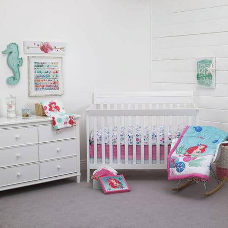(Disney Ariel Ocean Beauty 4pc Crib Bedding Set)