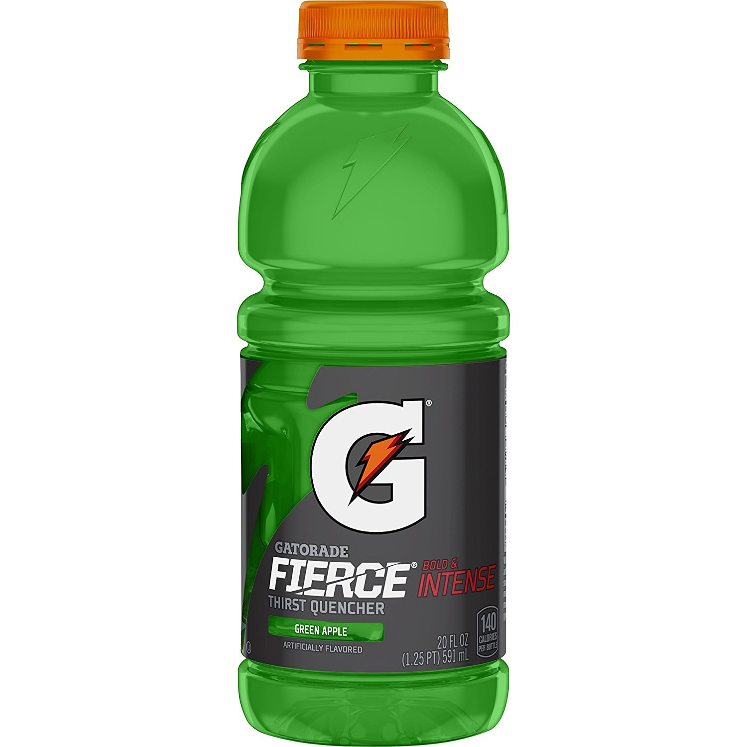 Gatorade Thirst Quencher Sports Drink, Green Apple, 20 Fl Oz, Pack of 12