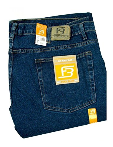 Full Blue Big Mens Traditional Fit Stretch Jean