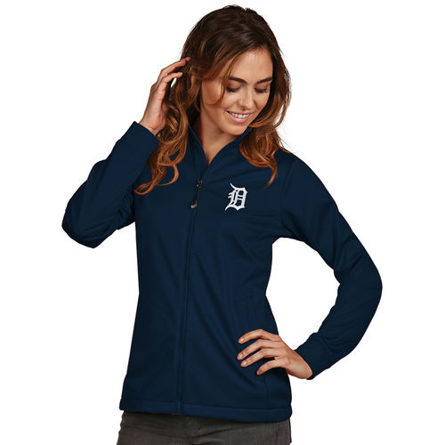 Women's Antigua Navy Detroit Tigers Golf Full-Zip Jacket